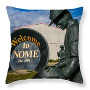 Welcome To Nome Throw Pillow