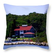 Welcome To Oak Bluffs Throw Pillow