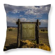 Welcome To Old Acoma Throw Pillow