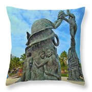 Welcome To Playa Del Carmen Mexico Throw Pillow