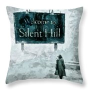 Welcome To Silent Hill Throw Pillow