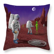 Welcome To The Future Throw Pillow