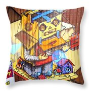 Welcome To The Gallery Throw Pillow