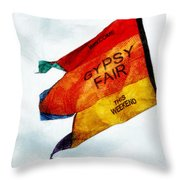 Welcome To The Gypsy Fair Throw Pillow