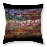 Welcome To The New America Throw Pillow