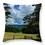 Welcome To The Smokies Throw Pillow