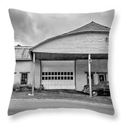 Welcome To The Twilight Zone Bw Throw Pillow