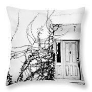 Welcome Vines Throw Pillow