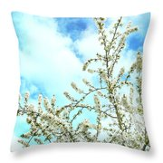 Welcome Vintage Spring Throw Pillow