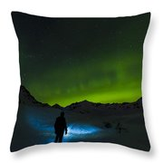 Welcomed In The Dark Throw Pillow