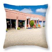 Welcoming Courtyard Throw Pillow