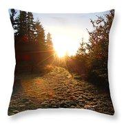 Welcoming Dawn Throw Pillow