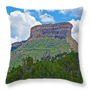 Welcoming Mesa To Mesa Verde National Park-colorado- Throw Pillow