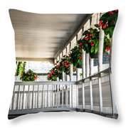 Welcoming Porch Throw Pillow