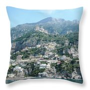 Welcoming Positano Throw Pillow