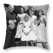 Welk And The Lennon Sisters Throw Pillow