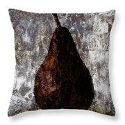 Well-read Pear Throw Pillow