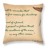 Well To Remember Throw Pillow