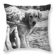 Well Trained Boy Throw Pillow