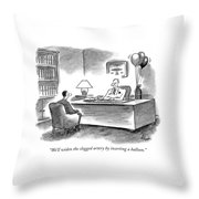 We'll Widen The Clogged Artery By Inserting Throw Pillow