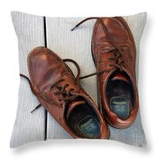 Well Worn Throw Pillow
