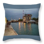 Welland Canal Locks Throw Pillow