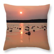 Wellfleet Harbor Sunset Throw Pillow
