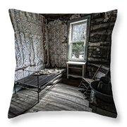Wells Hotel Room 2 - Garnet Ghost Town - Montana Throw Pillow