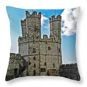 Welsh Castle Throw Pillow