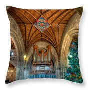 Welsh Christmas Throw Pillow by Adrian Evans