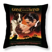 Welsh Corgi Cardigan Art Canvas Print - Gone With The Wind Movie Poster Throw Pillow