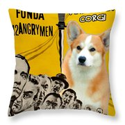 Welsh Corgi Pembroke Art Canvas Print - 12 Angry Men Movie Poster Throw Pillow