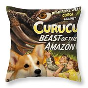 Welsh Corgi Pembroke Art Canvas Print - Curucu Movie Poster Throw Pillow