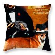 Welsh Corgi Pembroke Art Canvas Print - The Godfather Movie Poster Throw Pillow