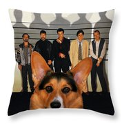 Welsh Corgi Pembroke Art Canvas Print - The Usual Suspects Movie Poster Throw Pillow