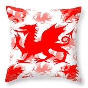 Welsh Dragon Throw Pillow
