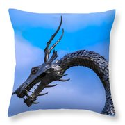 Welsh Dragon Head Throw Pillow