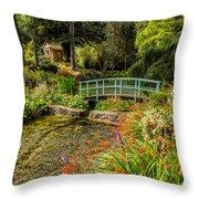 Welsh Garden Throw Pillow