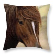 Welsh Pony Painting Throw Pillow