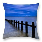 Welsh Seascape Throw Pillow by Adrian Evans