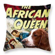 Welsh Springer Spaniel Art Canvas Print - The African Queen Movie Poster Throw Pillow