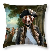 Welsh Springer Spaniel Art Canvas Print Throw Pillow