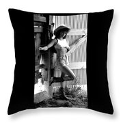 Wendy Barn Door-2 Throw Pillow