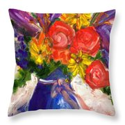 Wendy's Floral Throw Pillow