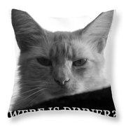 Were Is Dinner Throw Pillow