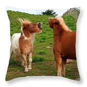 We're Just Horsing Around Throw Pillow