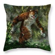 Weretiger Throw Pillow