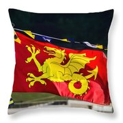 Wessex Wyvern Flag Throw Pillow