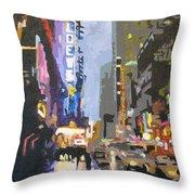 West 42nd Street Throw Pillow