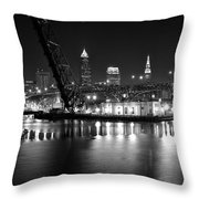 West Bank Of The Flats Throw Pillow